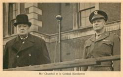 MR. CHURCHILL ET LE GENERAL EISENHOWER