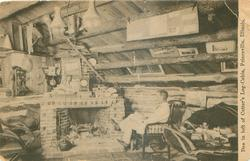 DEN IN LOFT OF CUTTER'S LOG-CABIN