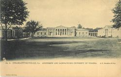 NO. 6. AUDITORIUM AND LABORATORIES, UNIVERSITY OF VIRGINIA