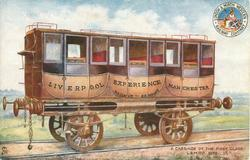 A CARRIAGE OF THE FIRST CLASS L.& M. RLY. 1838