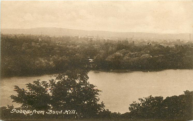 POONA FROM BUND HILL - TuckDB Postcards