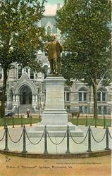 "STATUE OF ""STONEWALL"" JACKSON, RICHMOND, VA."
