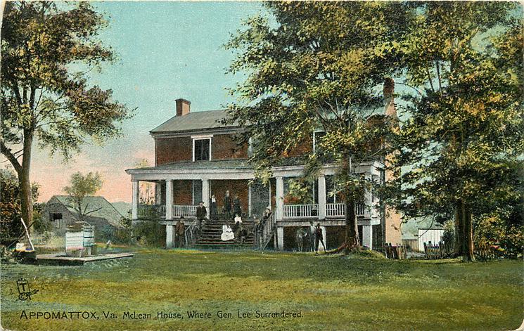 APPOMATTOX, VA., MCLEAN HOUSE, WHERE GEN. LEE SURRENDERED