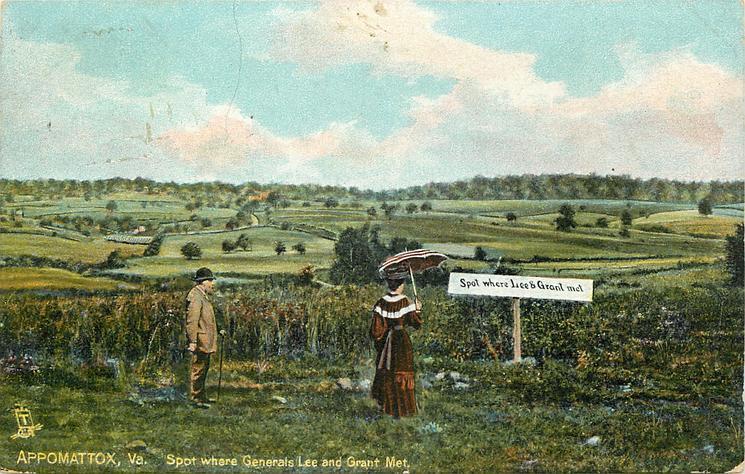 APPOMATTOX, VA., SPOT WHERE GENERALS LEE AND GRANT MET