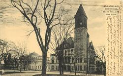 HIGH SCHOOL, STATE HALL AND CITY HALL