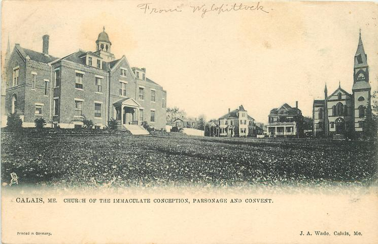 CHURCH OF THE IMMACULATE CONCEPTION, PARSONAGE AND CONVENT