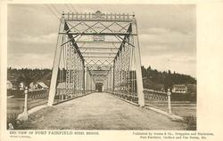 END VIEW OF FORT FAIRFIELD STEEL BRIDGE