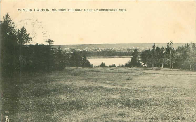 FROM THE GOLF LINKS AT GRINDSTONE NECK