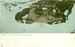 MAP OF ST. PETERSBURG, FLA. AND VACINITY