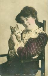MISS DAISY LE HAY  with cat