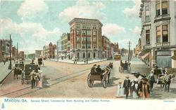 SECOND STREET, COMMERCIAL BANK BUILDING AND COTTON AVENUE