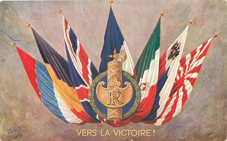 vers la victoire seven flags of world war i allies