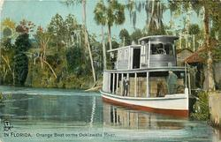 ORANGE BOAT ON THE OCKLAWAHA RIVER