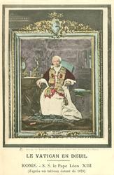 ROME. -S.S. LE PAPE LEON XIII (D'APRES UN TABLEAU DATANT DE 1878)