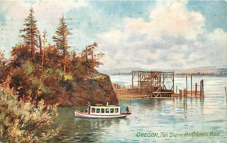 FISH TRAP ON THE COLUMBIA RIVER