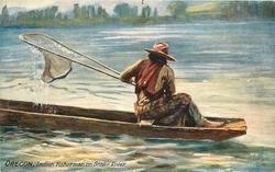 INDIAN FISHERMAN ON SNAKE RIVER