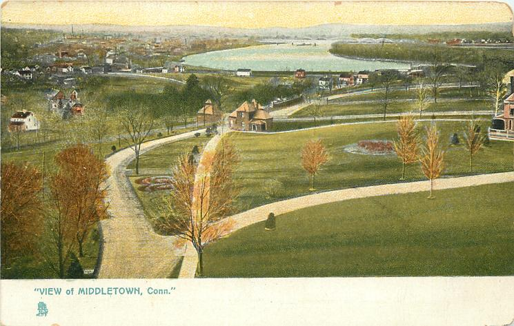 """""""VIEW OF MIDDLETOWN, CONN."""""""