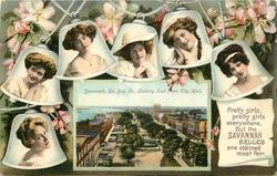 SAVANNAH, GA., BAY ST., LOOKING EAST FROM CITY HALL
