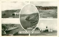 COASTAL SCENES AROUND ST. MARY'S CAMP 5 insets  DURL HEAD/ST. MARY'S BAY/MAN SANDS/BERRY HEAD/BERRY HEAD LIGHTHOUSE