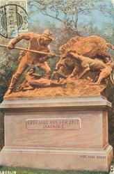 BERLINER TIERGARTEN (back), EBERJAGD AUS DER ZEIT JOACHIM I