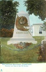 MONUMENT OVER GRAVE OF GEN. PHIL. SHERIDAN
