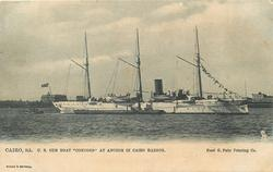 "U.S. GUN BOAT ""CONCORD"" AT ANCHOR IN CAIRO HABOR"
