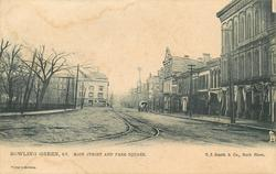 MAIN STREET AND PARK SQUARE