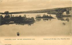 OAKLAND, MAINE, THE BAY, MESSALONSEKEE LAKE
