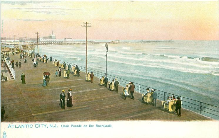 CHAIR PARADE ON THE BOARDWALK