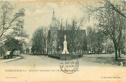 SOLDIERS' MONUMENT AND PRESBYTERIAN CHURCH