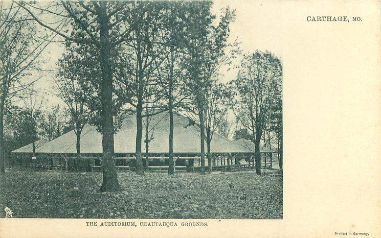 THE AUDITORIUM, CHAUTAUQUA GROUNDS