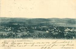 BIRD'S-EYE VIEW OF HACKETTSTOWN, N.J.
