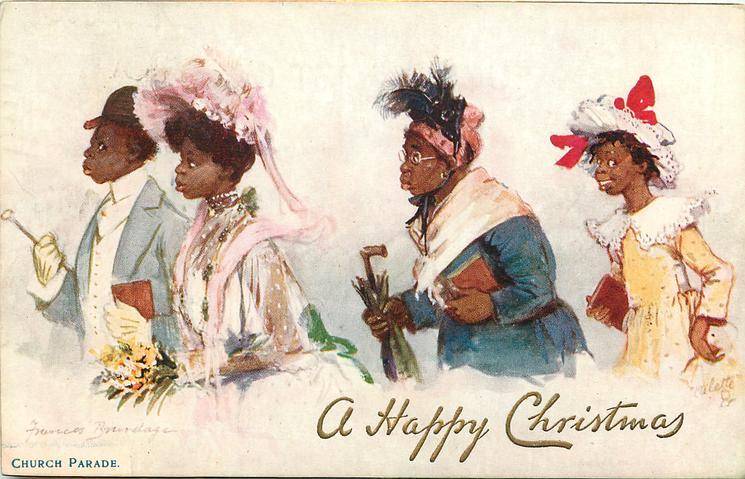 CHURCH PARADE  gilt overprint A HAPPY CHRISTMAS