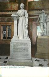 STATUE OF FRANCES E. WILLARD