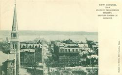 STATE ST. FROM MUNSEY BUILDING, SHOWING GROTON IN DISTANCE