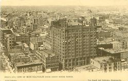 BIRD'S-EYE VIEW OF MINNEAPOLIS FROM THE COURT HOUSE TOWER