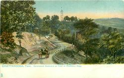 GOVERNMENT BOULEVARD AND CREST OF MISSIONARY RIDGE