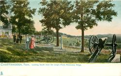 LOOKING SOUTH FROM DE LONG'S POINT, MISSIONARY RIDGE or LOOKING SOUTH FROM DELANY'S POINT, MISSIONARY RIDGE