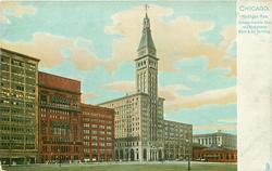 MICHIGAN AVE., CHICAGO ATHLETIC CLUB AND MONTGOMERY WARD & CO. BUILDING