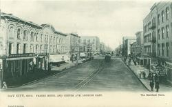 FRASER HOTEL AND CENTER AVE. LOOKING EAST