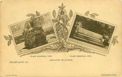 2 insets CLASS MEMORIAL, 1902 and CLASS MEMORIAL 1900