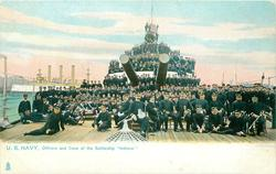 "OFFICERS AND CREW OF THE BATTLESHIP ""INDIANA"""