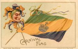 CARNIVAL FLAG  jester's head, no fireworks