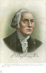 GEORGE WASHINGTON younger portrait, facing partly right in u/b set