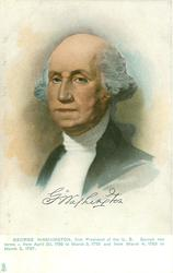 GEORGE WASHINGTON later portrait,facing partly left in d/b set