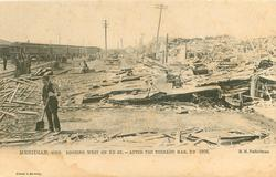 LOOKING WEST ON 2D ST. - AFTER THE TORNADO MAR. 2D 1906