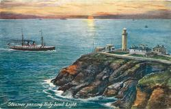 STEAMER PASSING HOLY-HEAD LIGHT