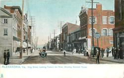KING STREET, LOOKING TOWARD THE RIVER, SHOWING MARSHALL HOUSE