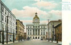 BULL ST., SHOWING CITY HALL, CUSTOM - HOUSE, PULASKI HOTEL AND SORREL BLDG.