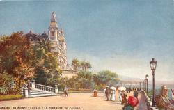 LA TERRASSE DU CASINO (no bandstand, women with parasols)